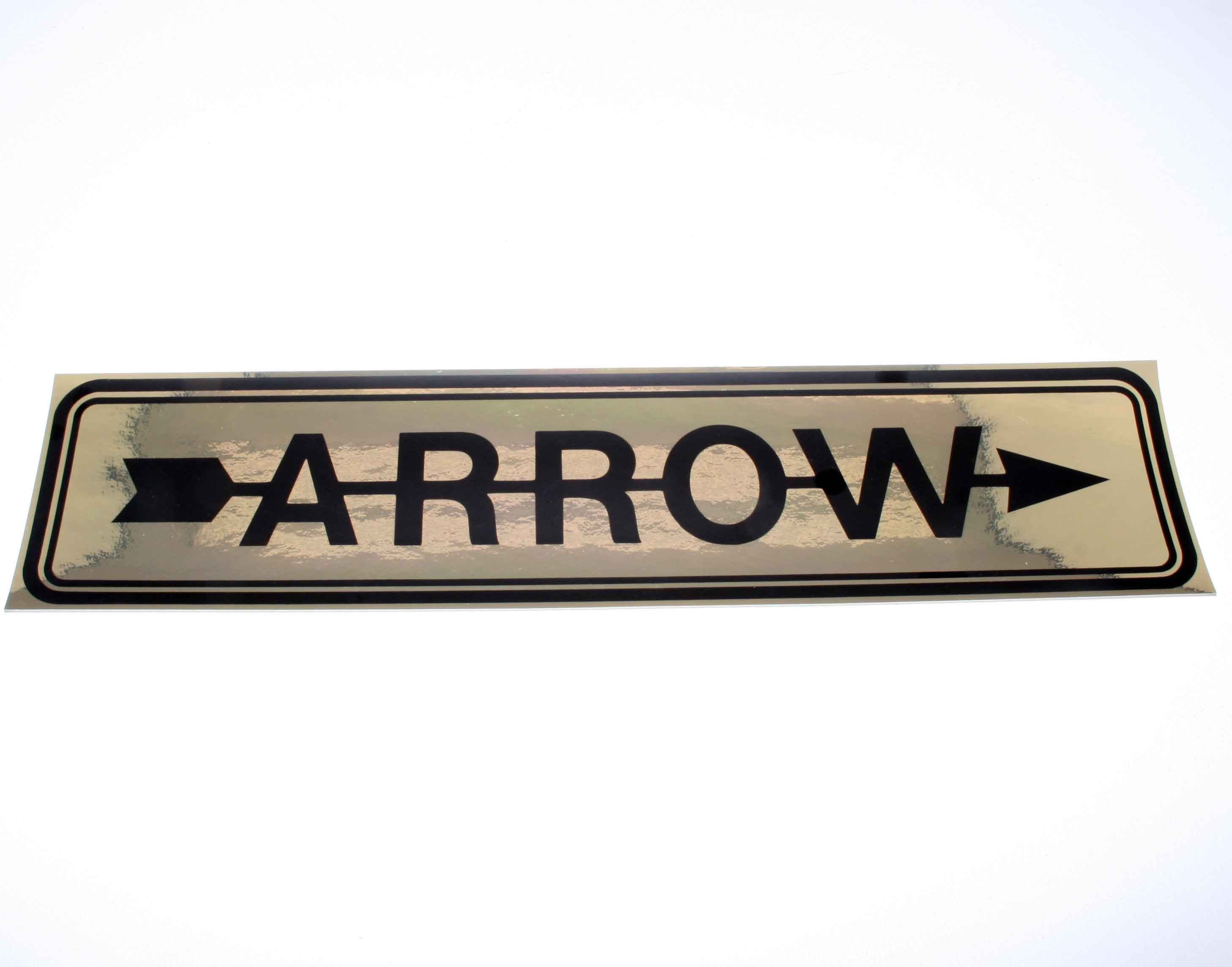 ARROW STICKER DECAL 600 x 140