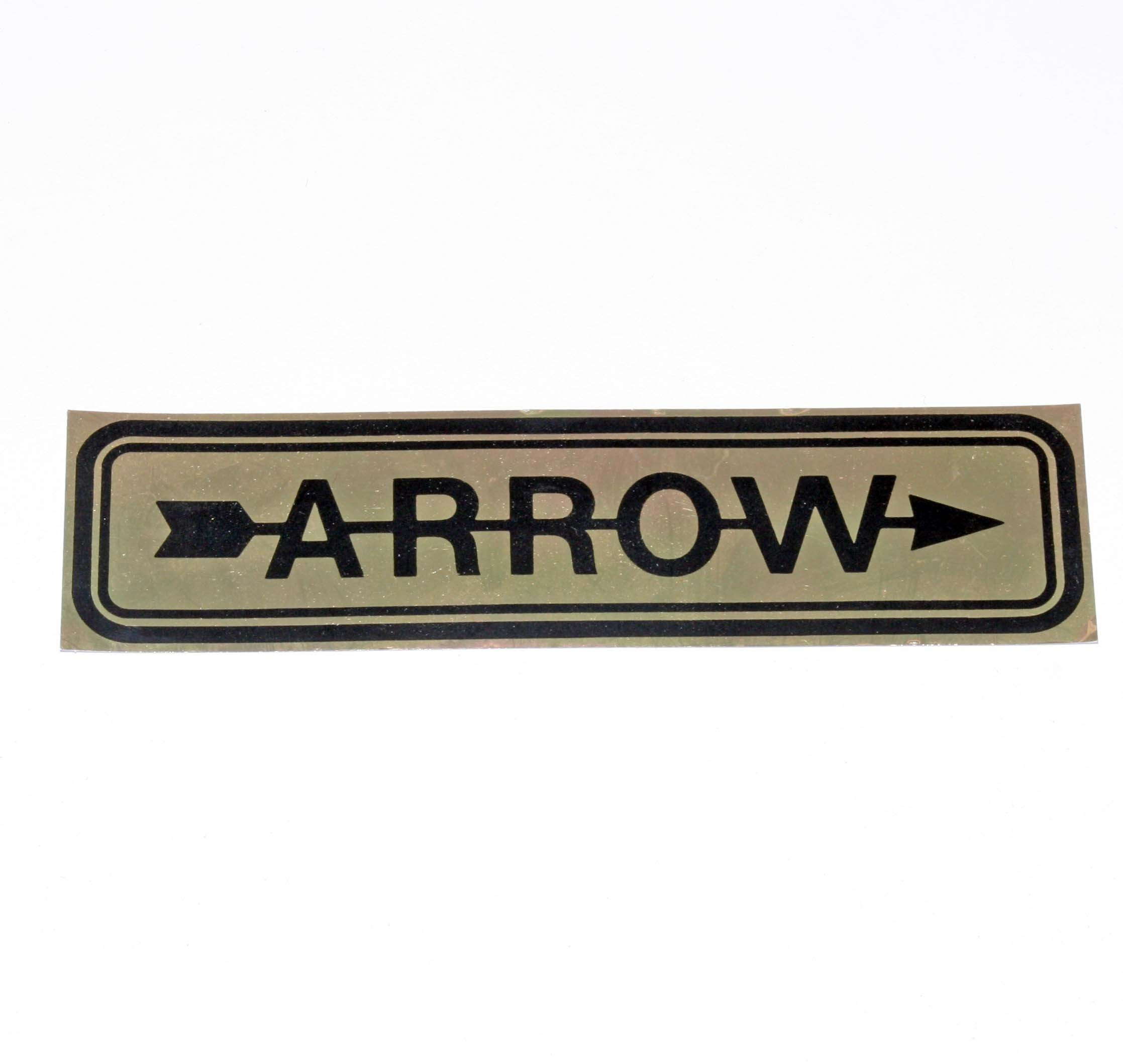 ARROW STICKER DECAL 160 x 40