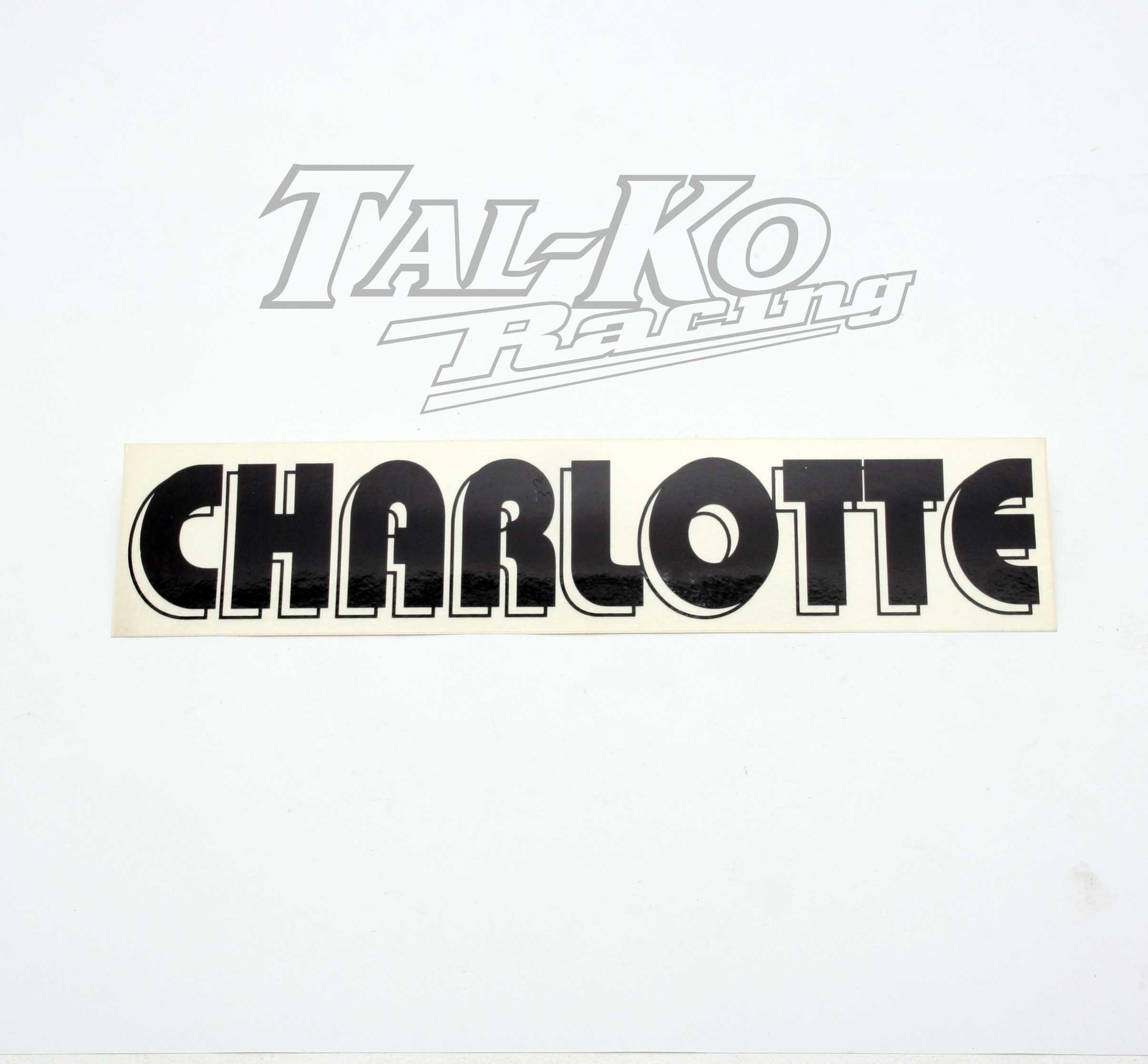 CRG CHARLOTTE STICKER DECAL 250 x 55