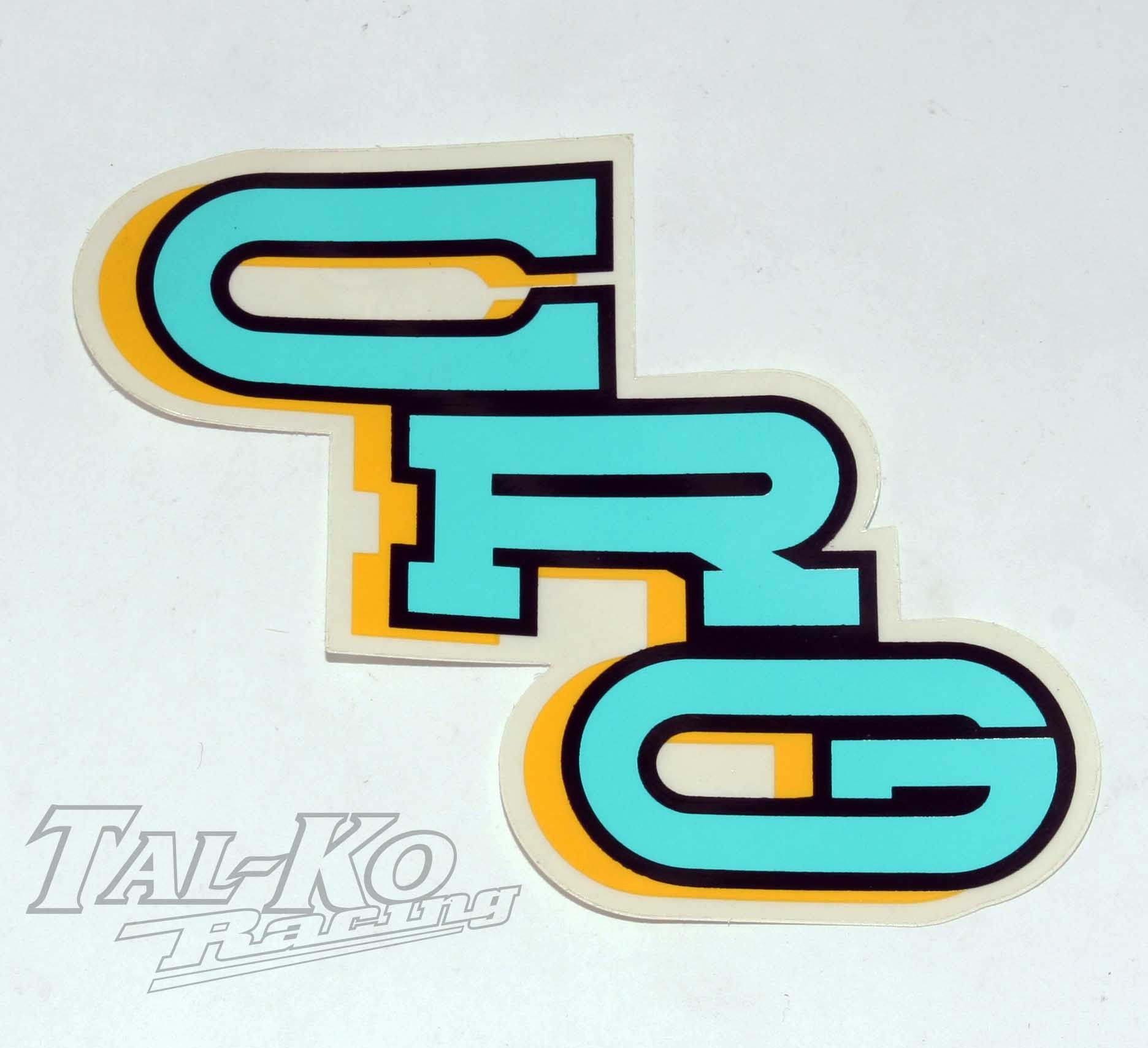 CRG STICKER DECAL TURQUOISE BLUE 150 x 80