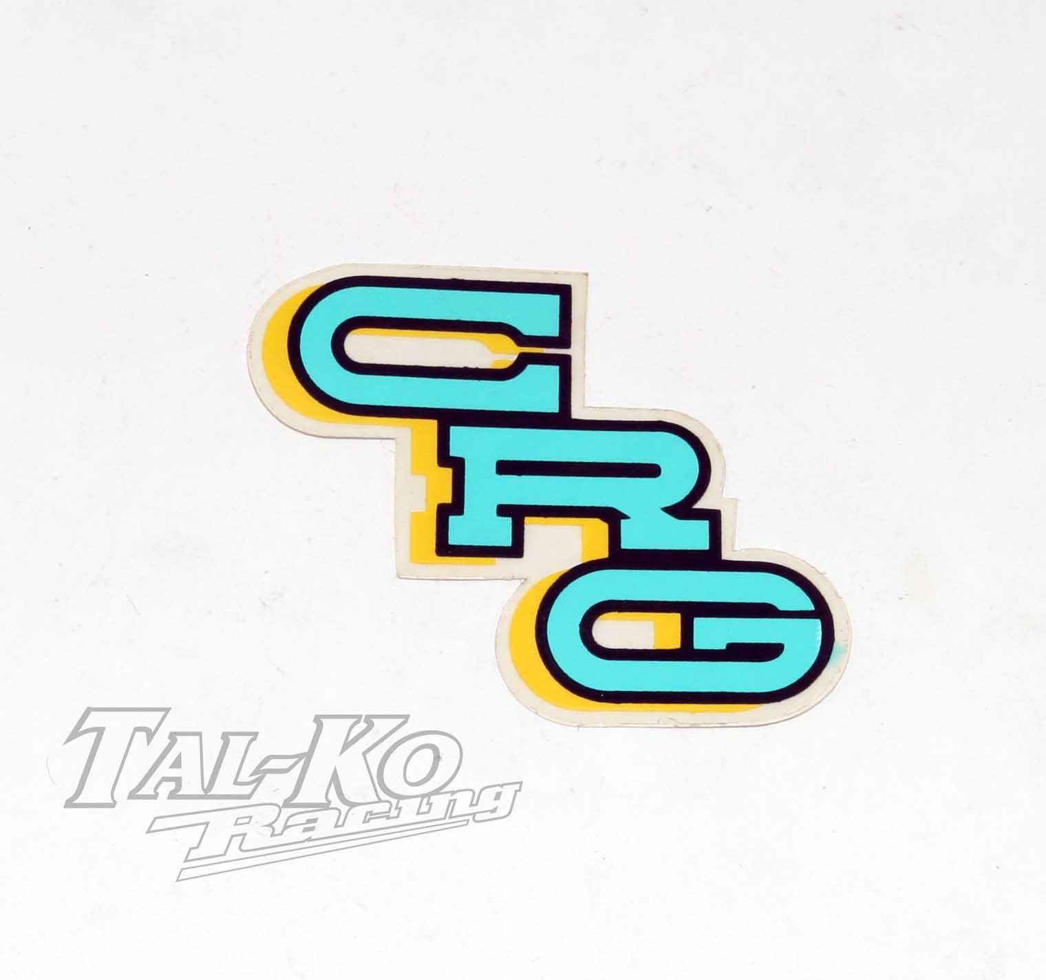 CRG STICKER DECAL TURQUOISE BLUE 80 x 35