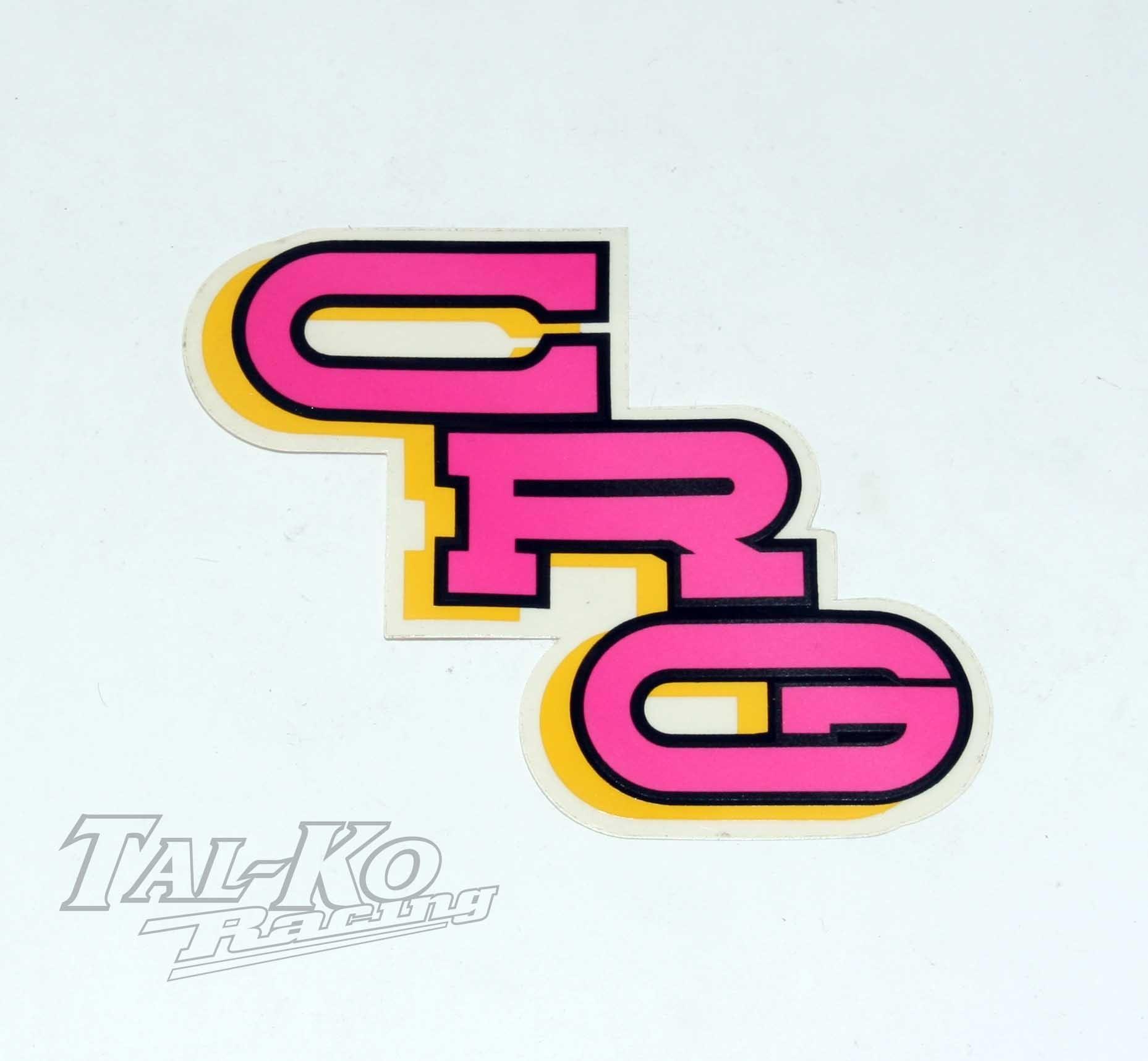 CRG STICKER DECAL PINK 110 x 60
