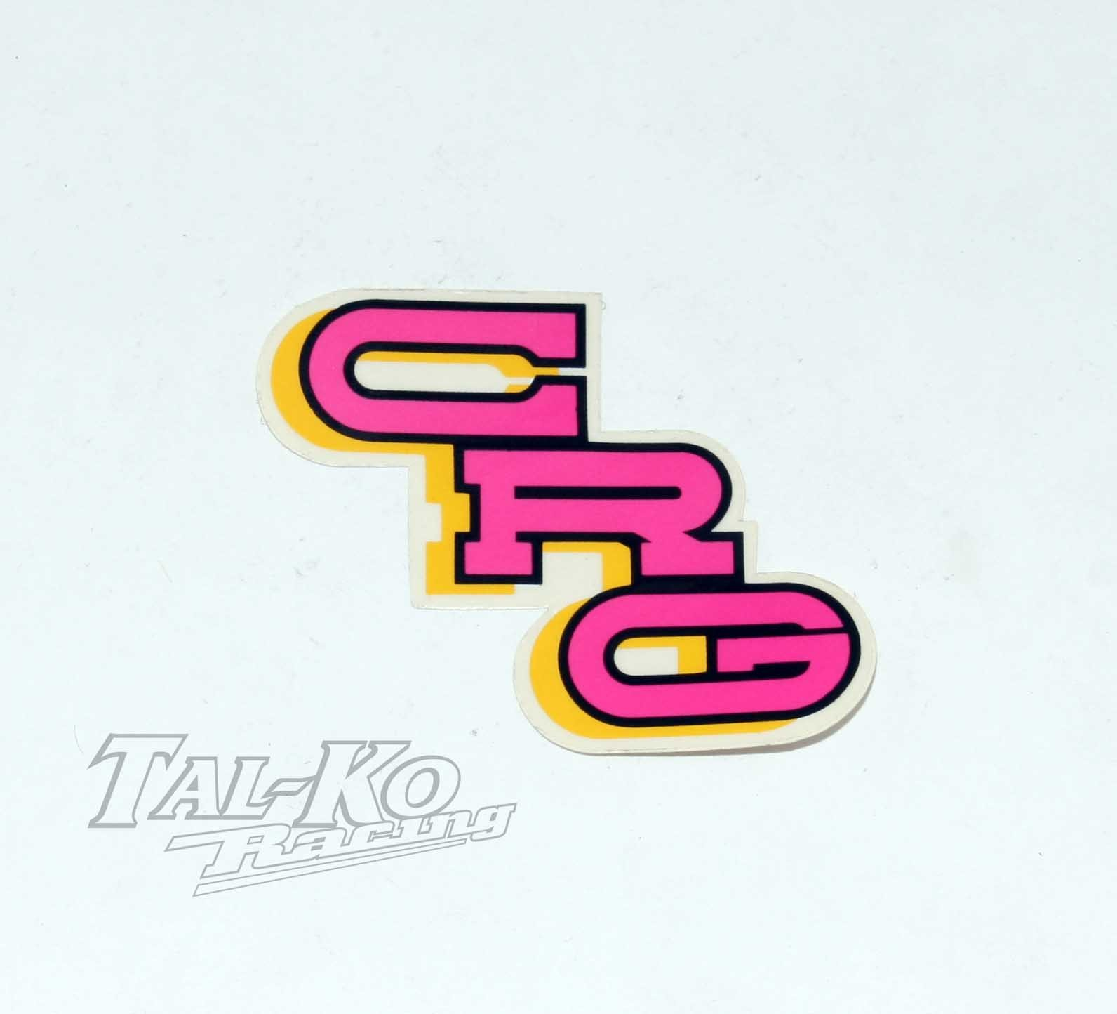CRG STICKER DECAL PINK 80 x 35