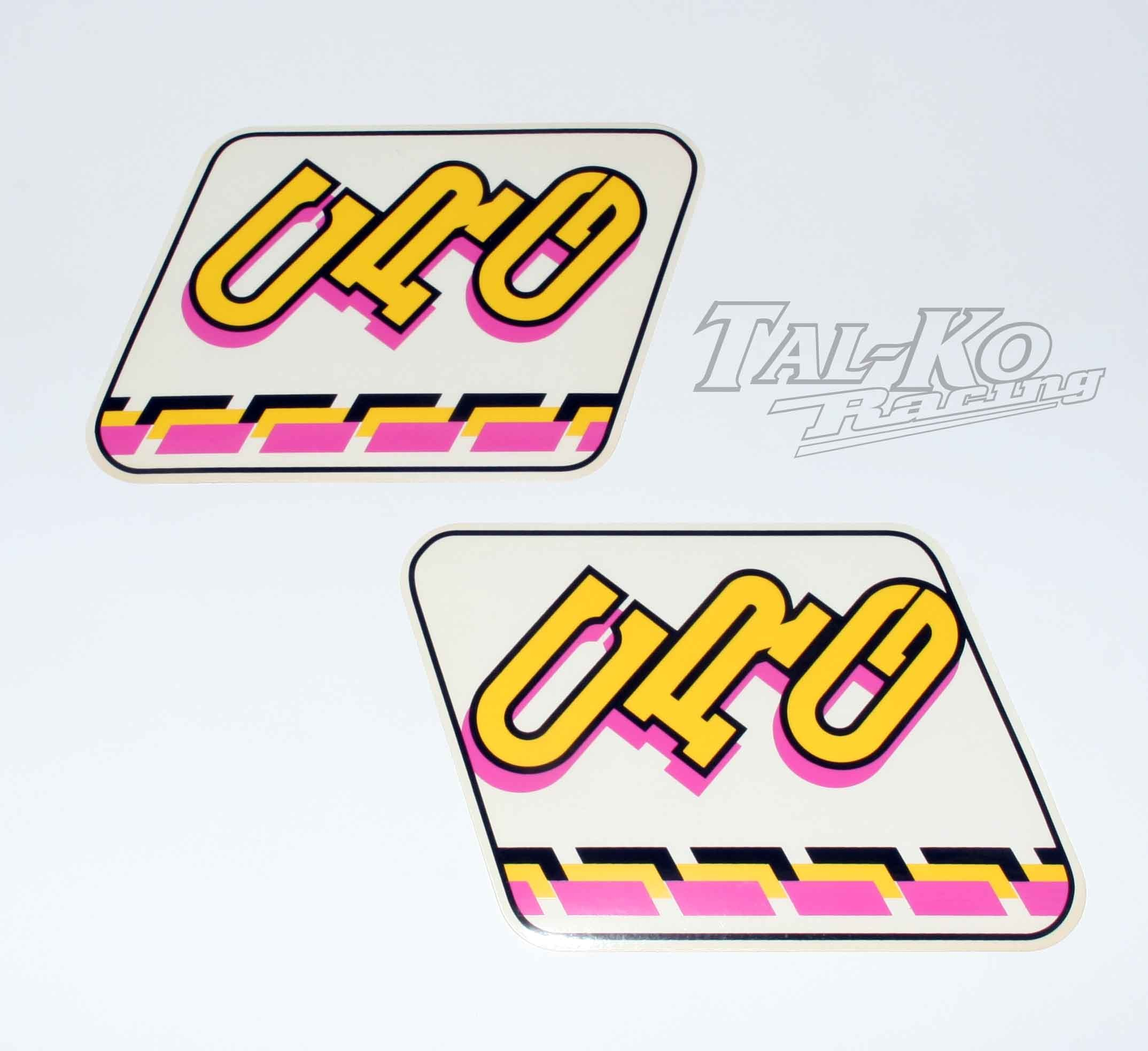 CRG STICKER DECAL TANK KIT BLACK/PINK/YELLOW (TYPE B) COLOUR
