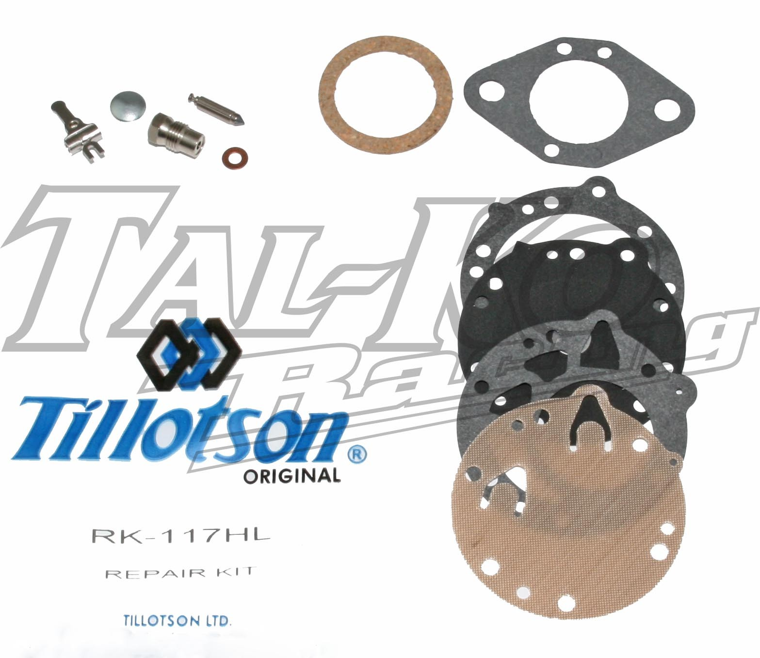 TILLOTSON HL CARB REPAIR KIT RK-117HL FULL