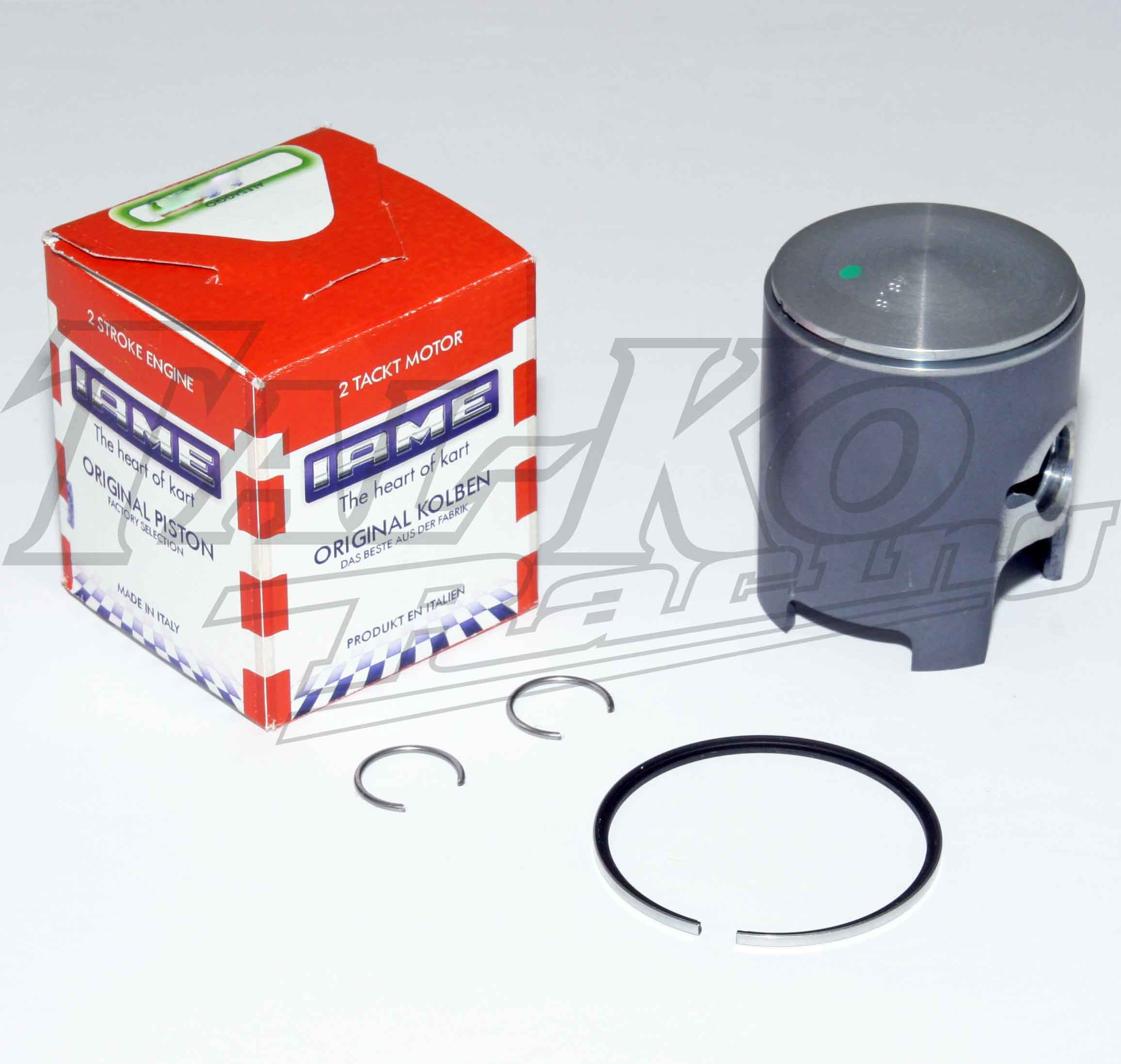 IAME TT PISTON COATED +  RING + CLIPS 48.70mm