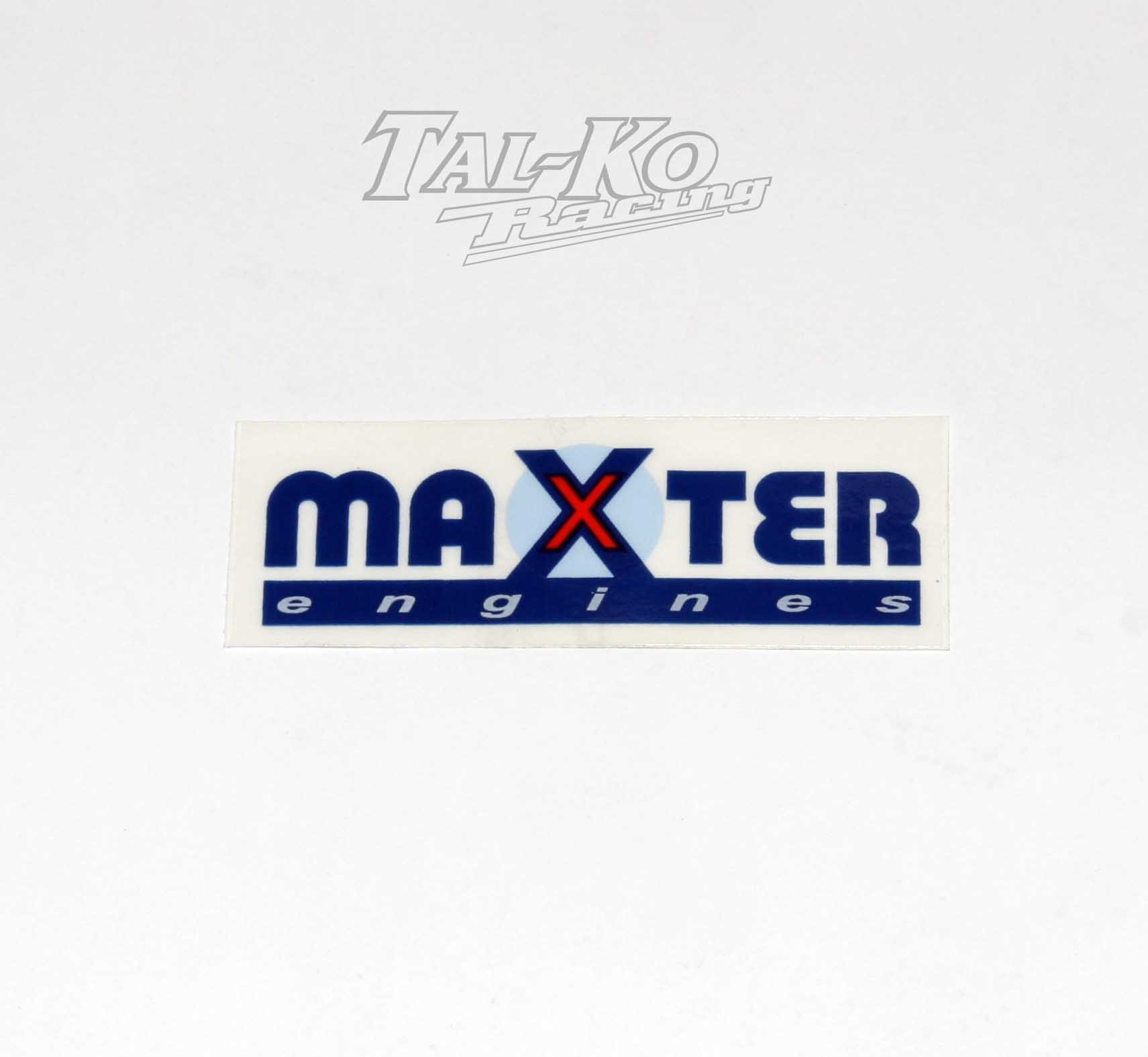 MAXTER ENGINE STICKER DECAL 75 x 27