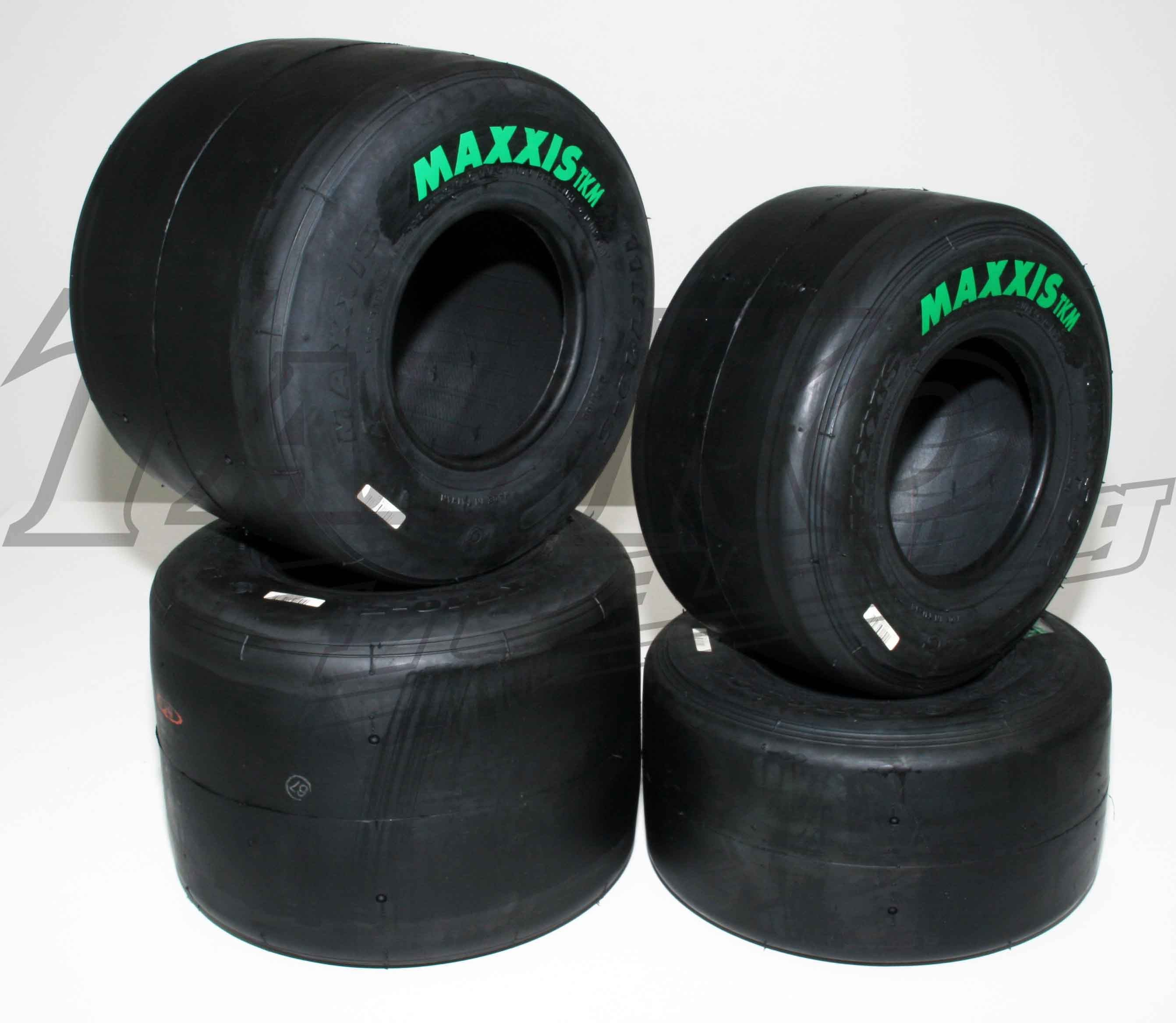 SET of DRY MAXXIS F/TKM TYRES GREEN LABEL