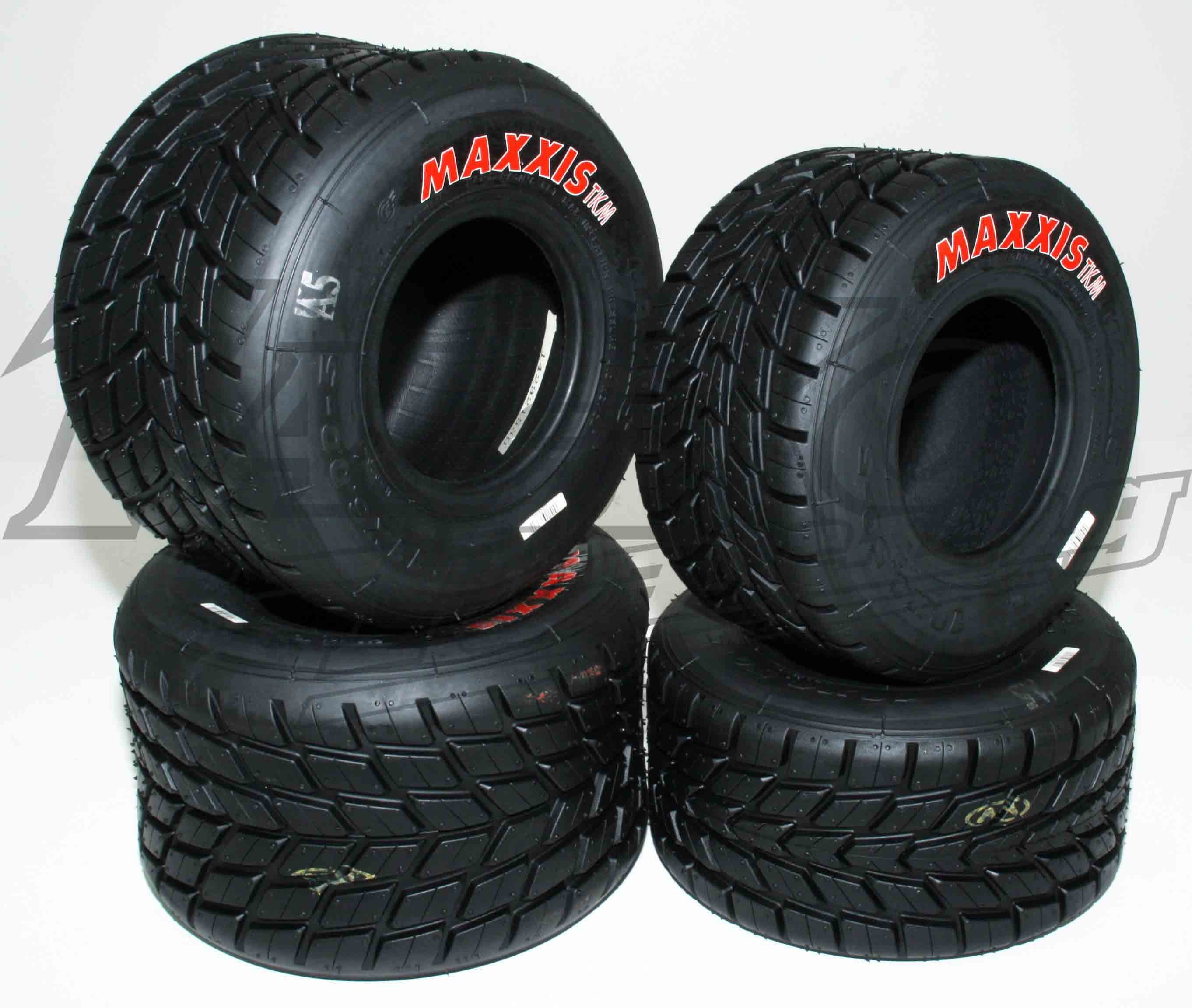 SET of  WET MAXXIS F/TKM TYRES  RED LABEL