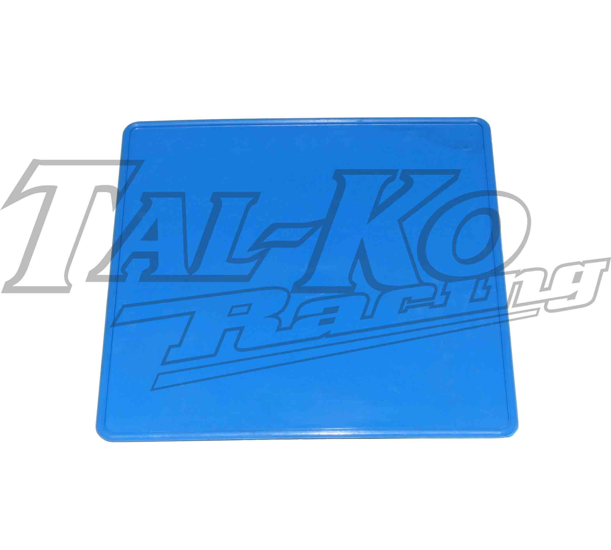 PLASTIC REAR NUMBER PLATE BLUE