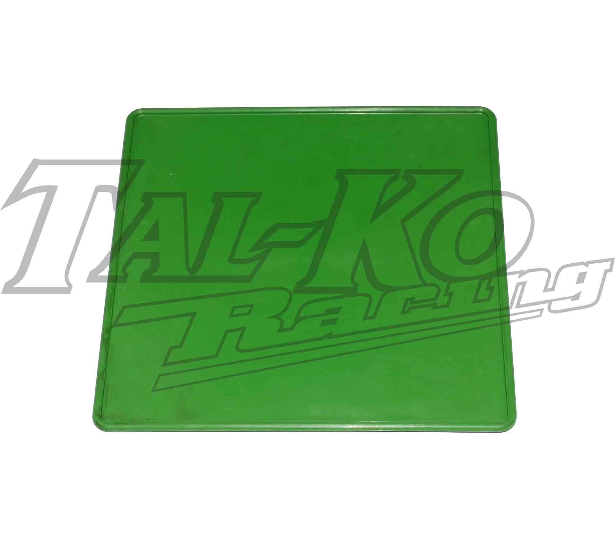 PLASTIC REAR NUMBER PLATE GREEN