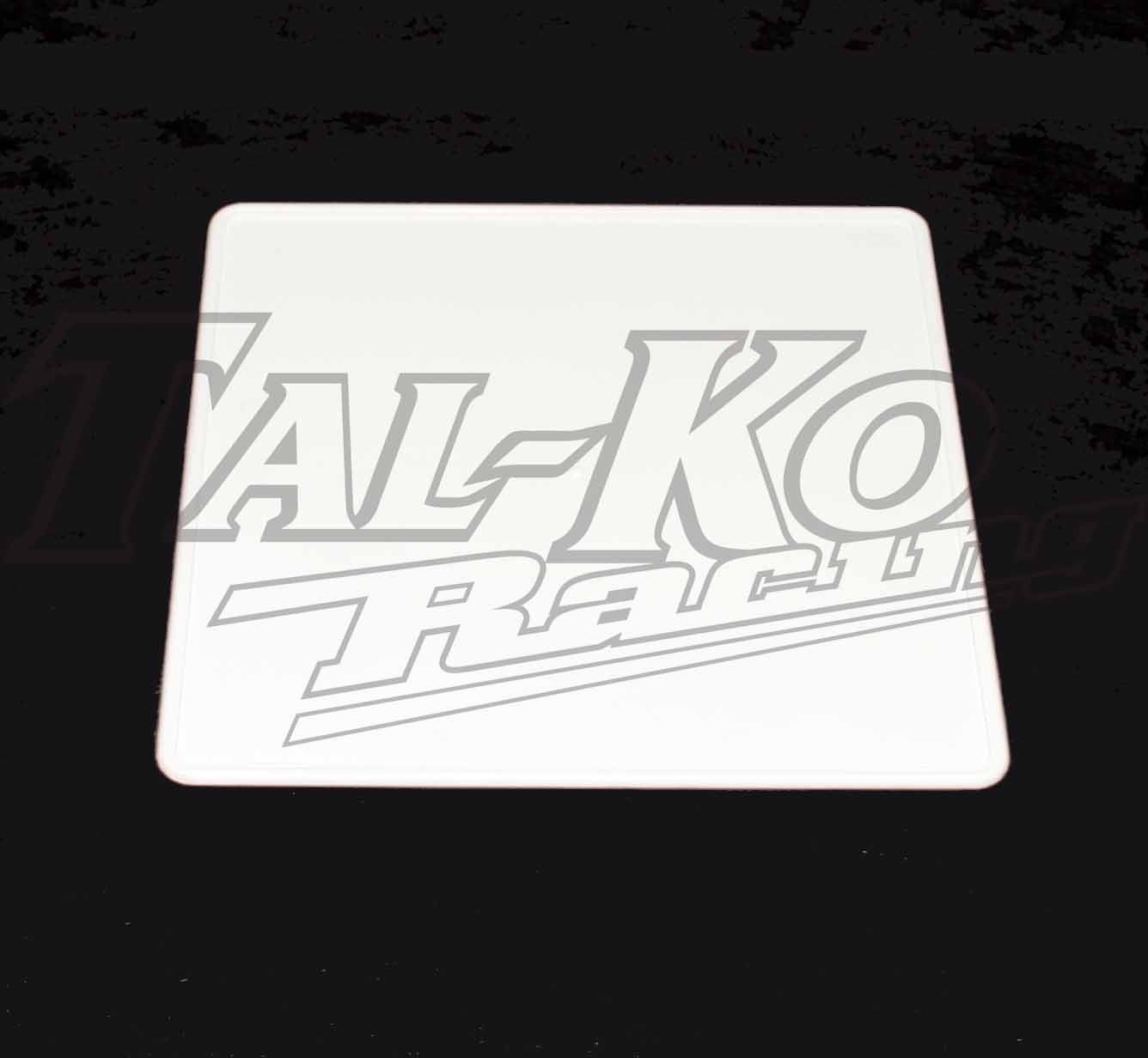PLASTIC REAR NUMBER PLATE WHITE
