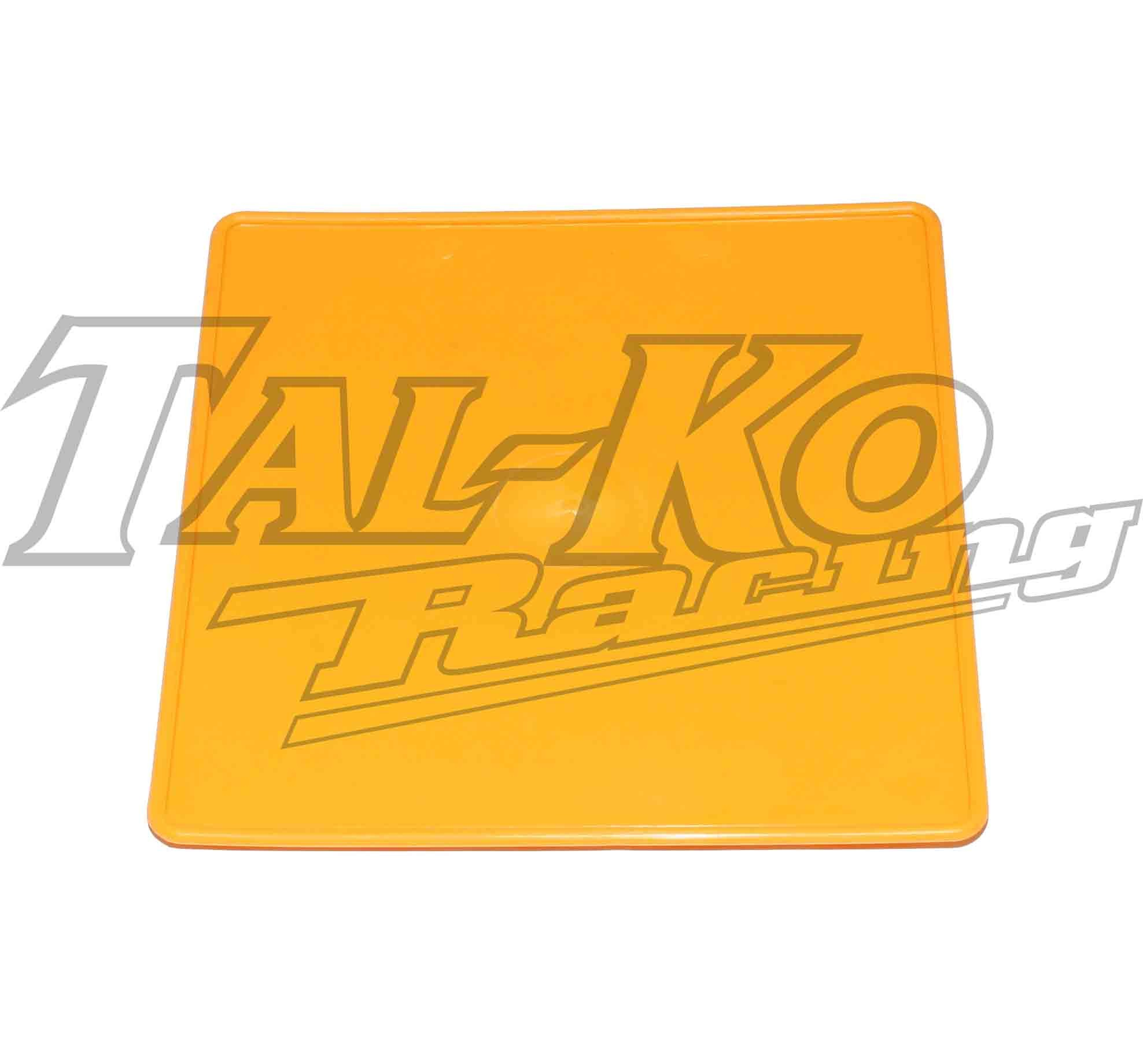 PLASTIC REAR NUMBER PLATE YELLOW