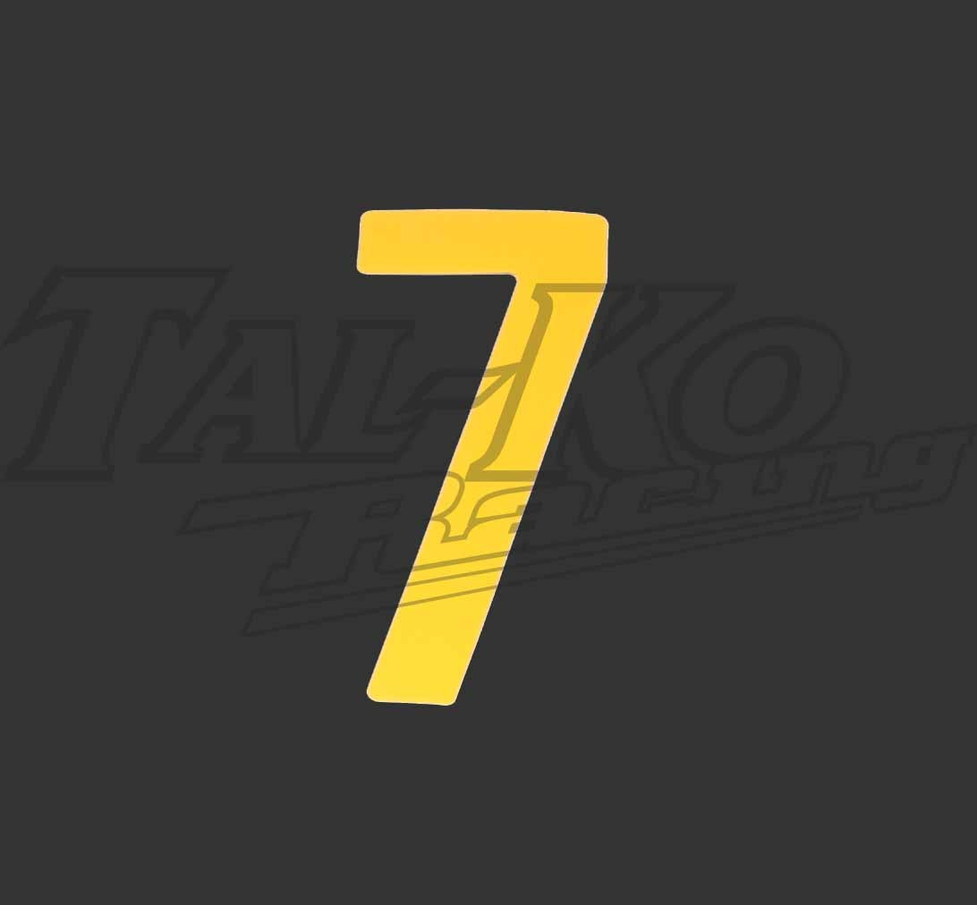 STICK ON NUMBER YELLOW SEVEN