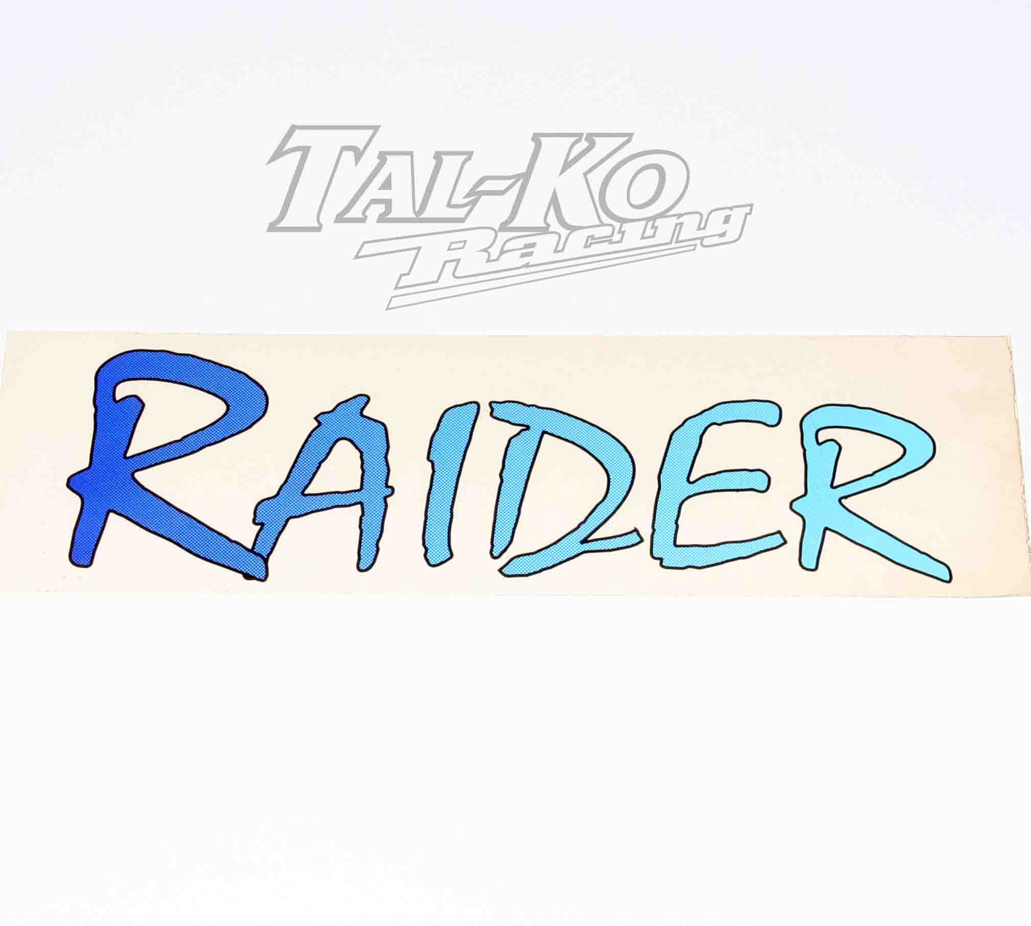 RAIDER STICKER DECAL 250 x 75