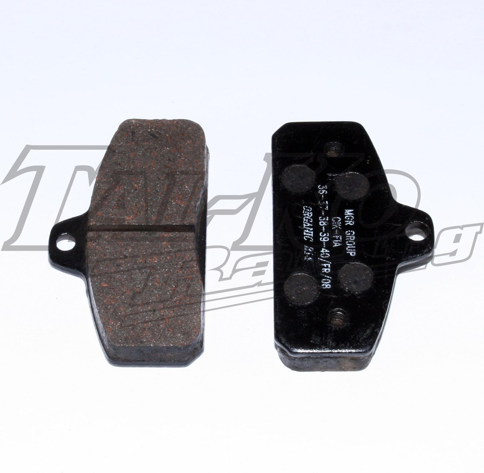 R/R REAR BRAKE PAD SET 2 BLACK
