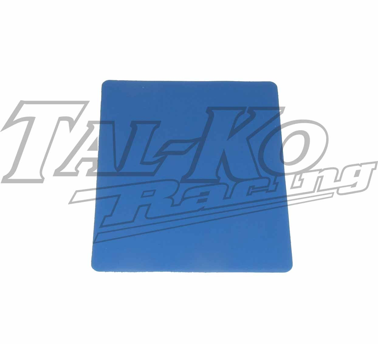 STICK ON NUMBER PLATE BLUE SMALL