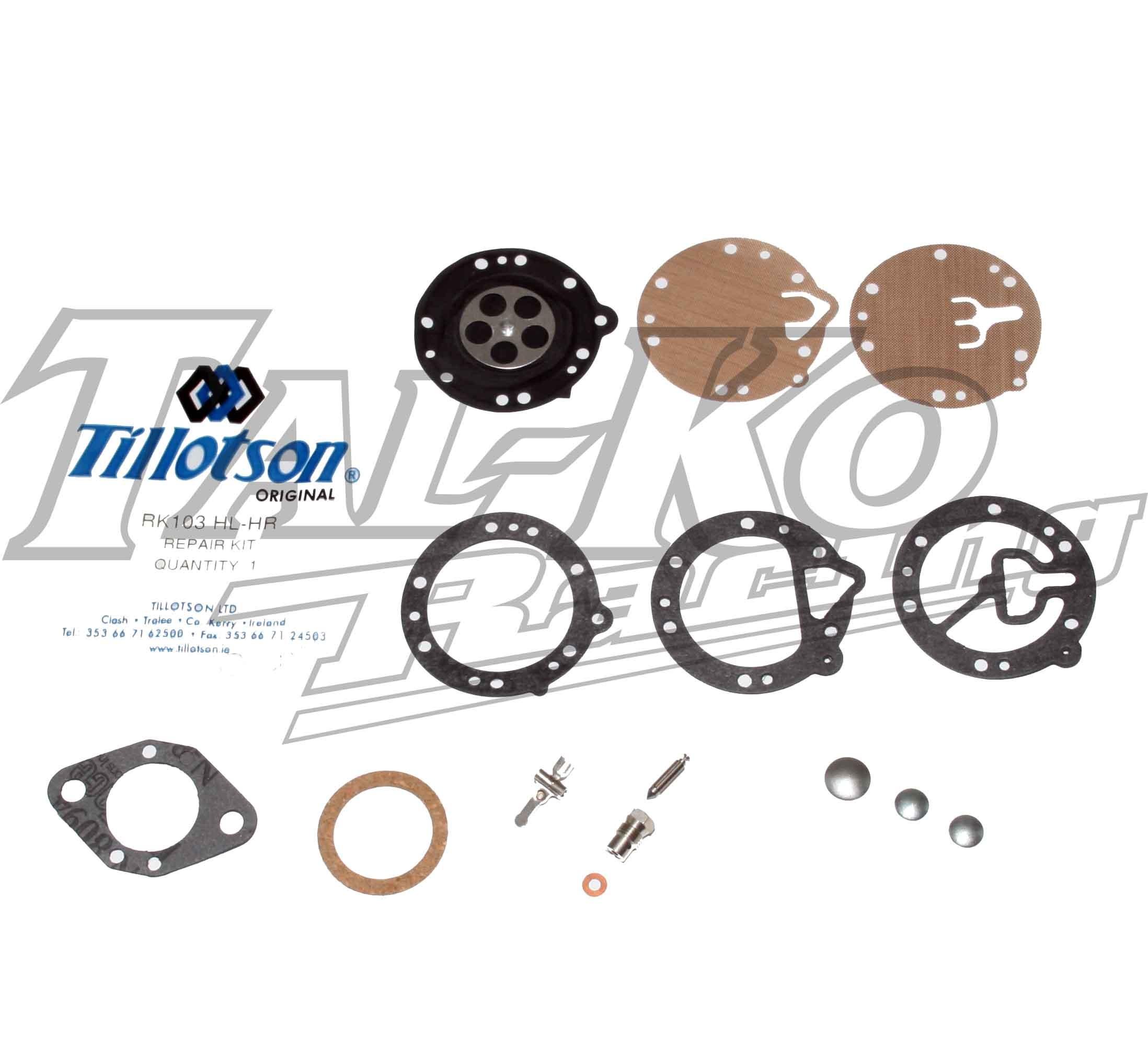 TILLOTSON HL-HR CARB REPAIR KIT RK103 HL-HR  FULL