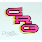 CRG STICKER DECAL PINK 150 x 80