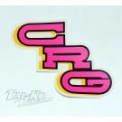 CRG STICKER DECAL PINK 150 x 80