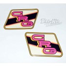 CRG STICKER DECAL TANK KIT BLACK/PINK/YELLOW (TYPE C) COLOUR