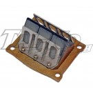 TKM KW125 REED VALVE CAGE ASSEMBLY
