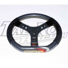 CRG STEERING WHEEL FLAT TOP CARBON